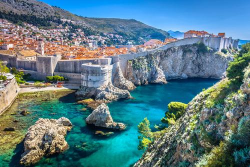 クロアチア・ドブロブニクの遠景