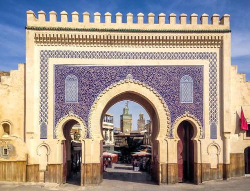 モロッコ・フェズのブルーゲート