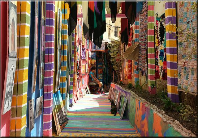 スークの織物の店