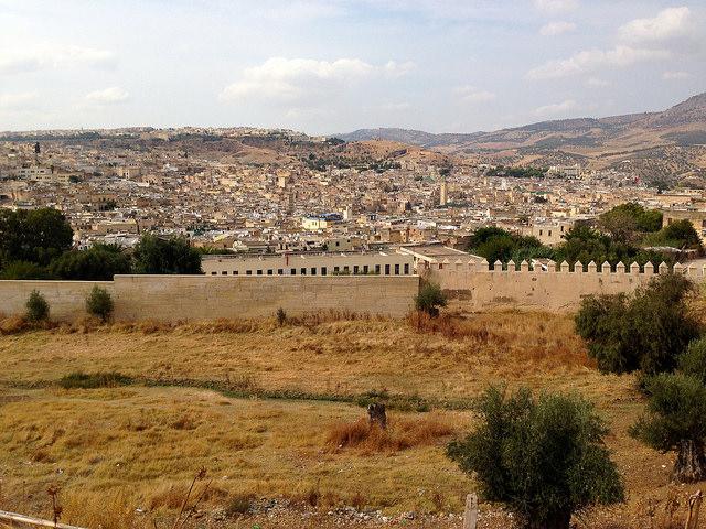 モロッコのフェズ旧市街