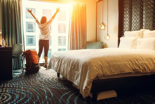 ひとり旅で部屋でのんびり
