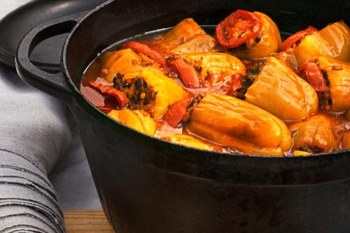 ダッチオーブンで作るスープ