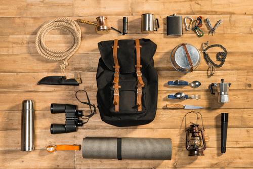 キャンプの道具