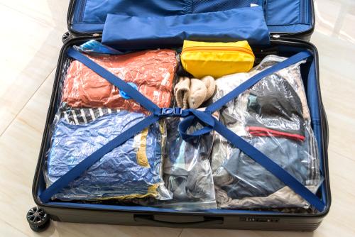 うまく詰めたスーツケース