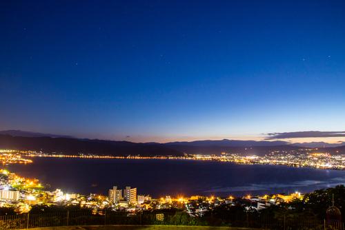諏訪湖 夜景