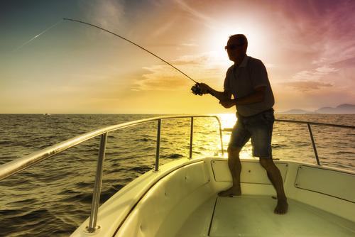 海での釣り