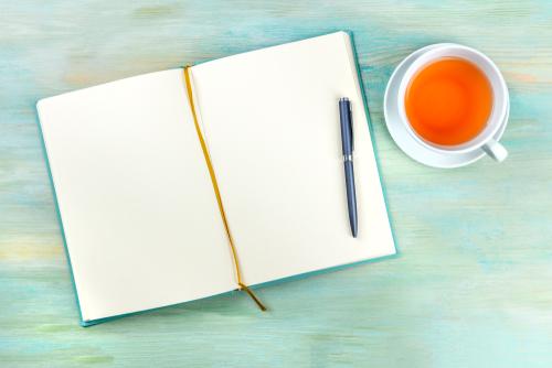 お茶と手帳