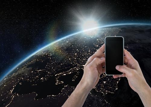 スマートフォンと地球