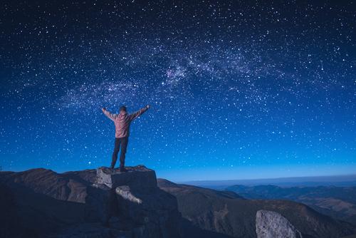 星の輝く夜