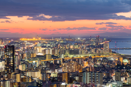 梅田スカイビルから見る夕日