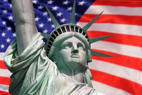 星条旗と自由の女神