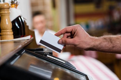 クレジットカードで会計