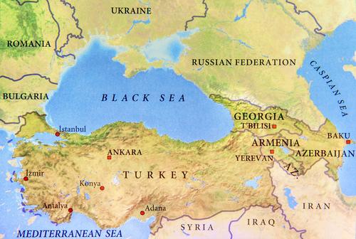 ジョージアを含む地図