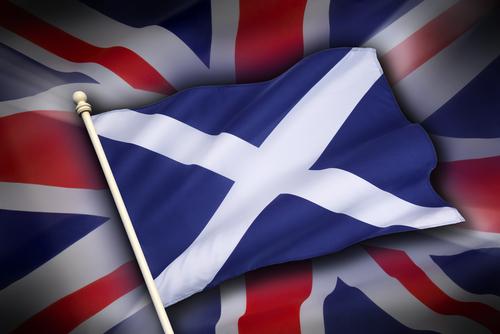 スコットランドと英国の旗