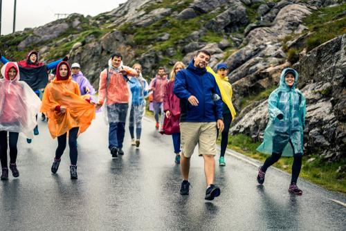雨の日の登山